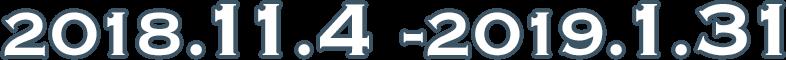 2018年11月4日-2019年1月31日