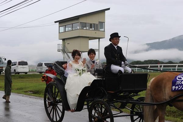 サラブレッド馬上結婚式カップル&ミスシンザンの募集について
