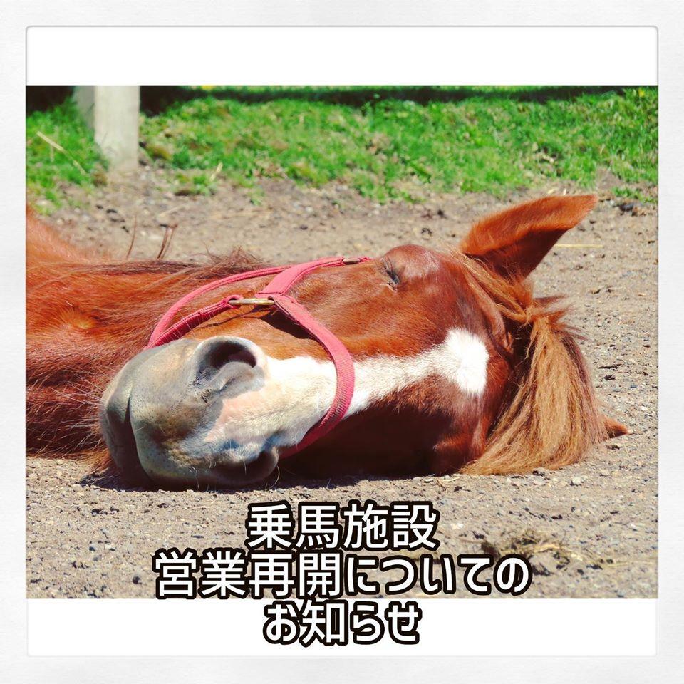 うらかわ優駿ビレッジAERU 乗馬施設の一部営業再開(5月25日~)