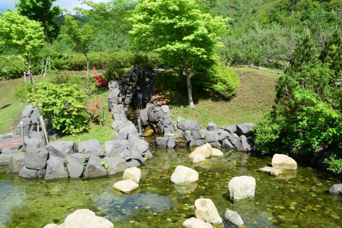 翠明橋公園の湧水利用が再開されました